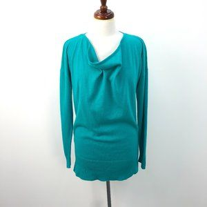 NWT Ann Taylor Turquoise Cashmere Cowl Sweater